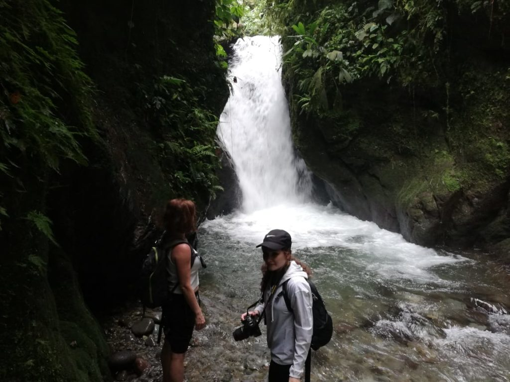 Waterfall trek in Mindo