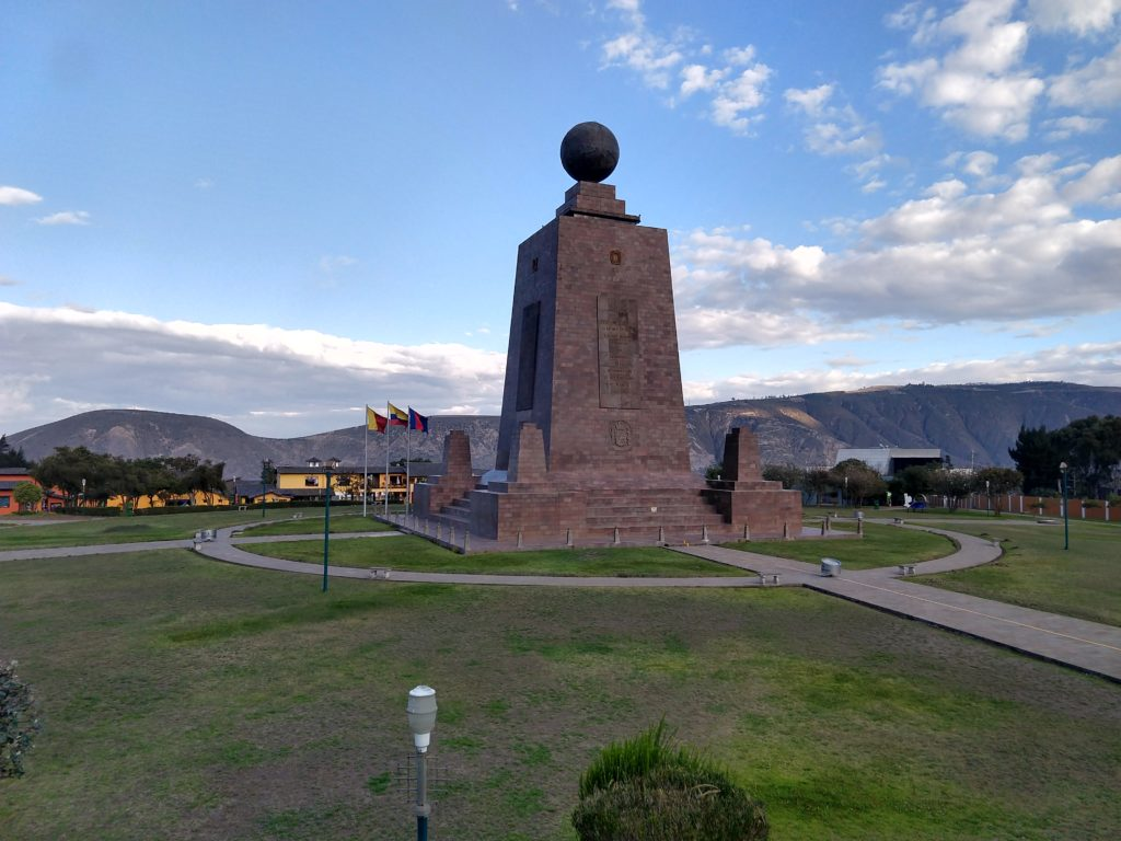 The Equator monument and Quito back to normal
